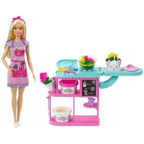 Купить Игровой набор Barbie с куклой-флористом Цветочный магазин, GTN58, Куклы и пупсы