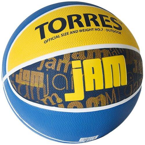 Мяч баскетбольный TORRES Jam, р.7 (B02047)