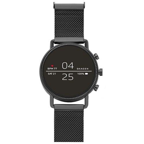 Умные часы SKAGEN Falster 2 (steel-mesh), черный умные часы huawei watch steel mesh mesh серебряная сталь 42mm