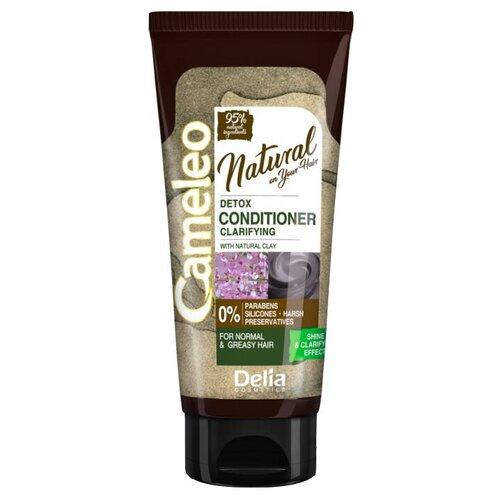 Delia Cosmetics кондиционер для волос Cameleo Natural On Your Hair Detox с глиной, 200 мл кератиновый кондиционер delia cosmetics cameleo вв объем волос 200 мл