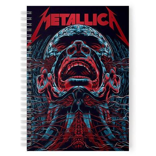 Купить Тетрадь 48 листов в клетку с рисунком Metallica ярость, Drabs, Тетради