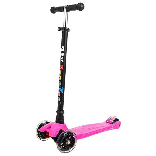 Фото - Детский кикборд 21st Scooter Maxi RO203M-3, розовый кикборд small rider cosmic zoo scooter оранжевый