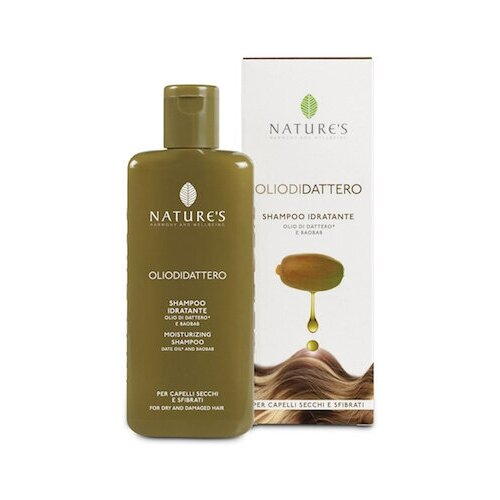 Купить Увлажняющий восстанавливающий шампунь для волос - Nature's - Olio di Dattero Moisturizing Shampoo 200 мл.