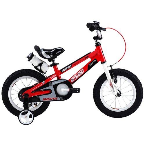 Детский велосипед Royal Baby RB12-17 Freestyle Space №1 Alloy Alu 12 красный (требует финальной сборки) двухколесные велосипеды royal baby freestyle space 1 alloy 14