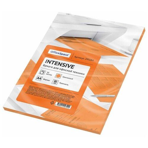 Фото - Бумага OfficeSpace A4 Intensive 80 г/м² 50 лист. (цветная), оранжевый бумага officespace a4 pale 80г м2 50лист цветная фиолетовый