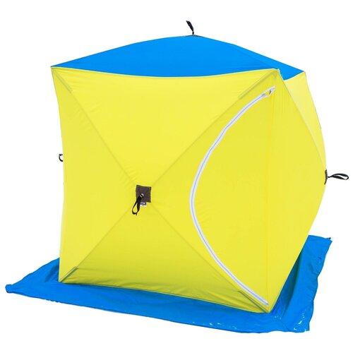Фото - Палатка СТЭК Куб 1 желтый/синий палатка jian hong замок принца 200280835 синий желтый