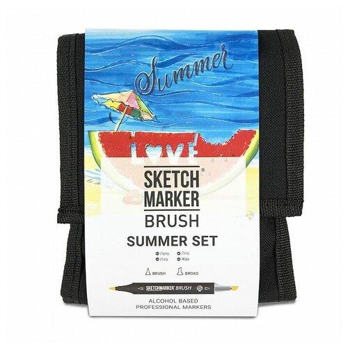 Фото - SketchMarker Набор маркеров Brush Summer Set, 12 шт. sketchmarker набор маркеров brush oriental style set 48 шт