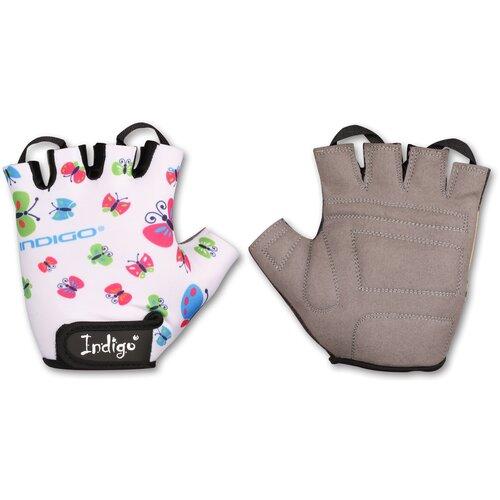 Перчатки вело детские INDIGO BUTTERFLY IN181 Белый 2XS