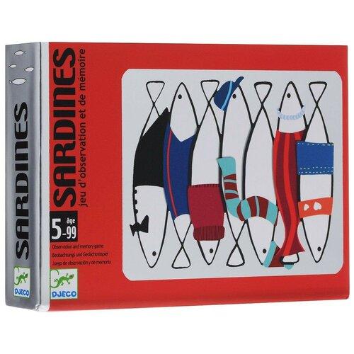 Фото - Настольная игра DJECO Карточная игра Сардины настольная игра djeco карточная игра чик чирик