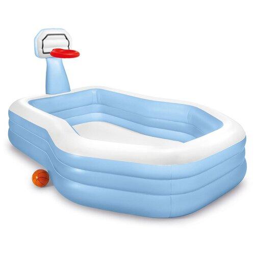 Детский бассейн Intex Shootin' Hoops 57183 257х188х103см голубой