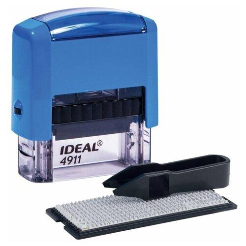 Штамп Trodat Ideal 4911 прямоугольный самонаборный синий