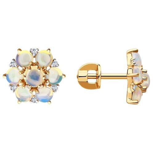 SOKOLOV Серьги из золота с бриллиантами и опалами 6024230
