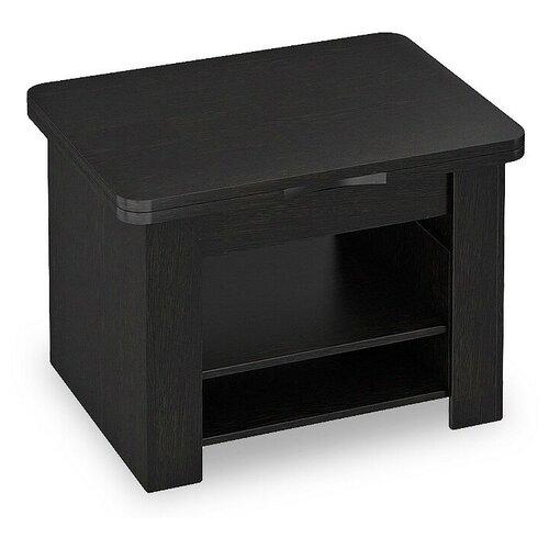 Столик журнальный ТриЯ тип 5, раскладной, ДхШ: 80 х 80 см, длина в разложенном виде: 120 см, венге цаво стол кухонный трия т1 раскладной дхш 23 2 х 80 см длина в разложенном виде 160 см венге цаво