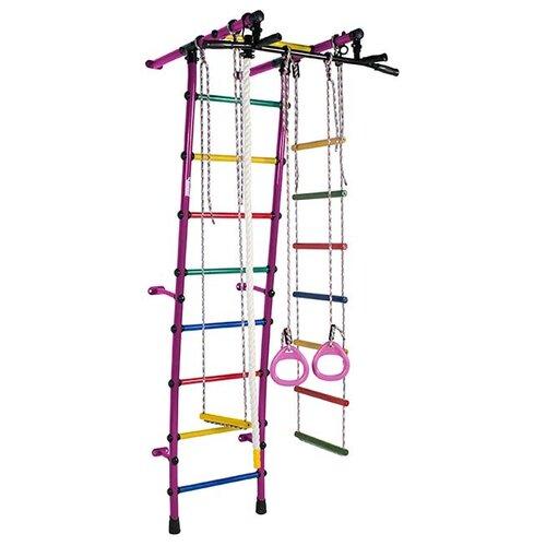 Купить Шведская стенка Формула здоровья Стелла фиолетовый/радуга, Игровые и спортивные комплексы и горки