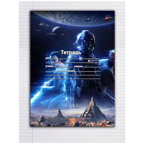 Купить Набор тетрадей 5 штук, 12 листов в клетку с рисунком Star wars, Drabs, Тетради