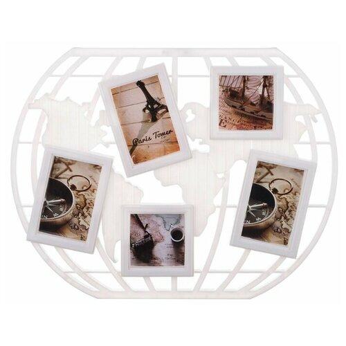 Фото - Фоторамка-коллаж Lefard 596-200 на 5 фото: 10х10, 10х15 см белый фоторамка lefard art 732 146 20x25 см золотистый