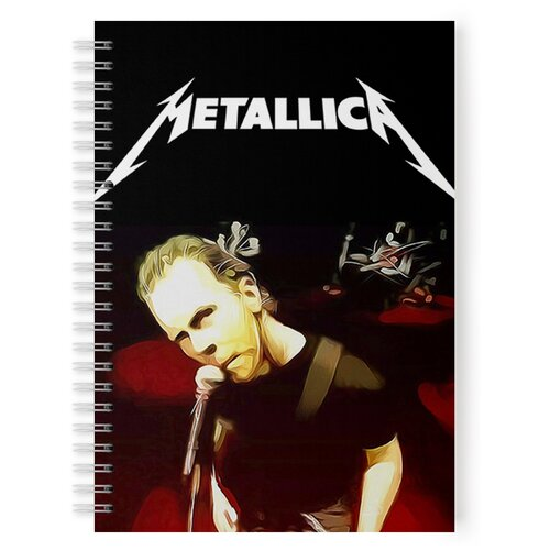 Купить Тетрадь 48 листов в клетку с рисунком METALLICA James Hetfield, Drabs, Тетради