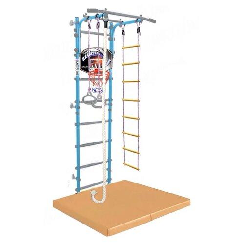 Купить Шведская стенка Midzumi Niji Kabe Basketball Shield с матом 4, небесная глазурь, Игровые и спортивные комплексы и горки