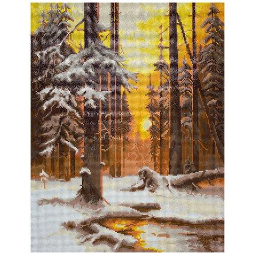 Купить Наборы - кристальная (алмазная) мозаика ФРЕЯ ALVR-39 043 Кристальная мозаика (алмазная вышивка) Закат в лесу 51 х 39 см, Алмазная вышивка