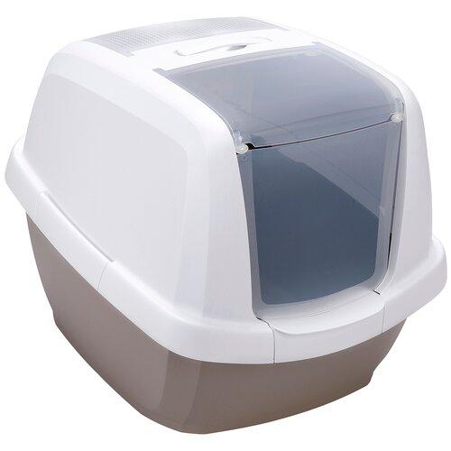 Туалет-домик для кошек Imac Maddy 62х49.5х47.5 см бежево-серый