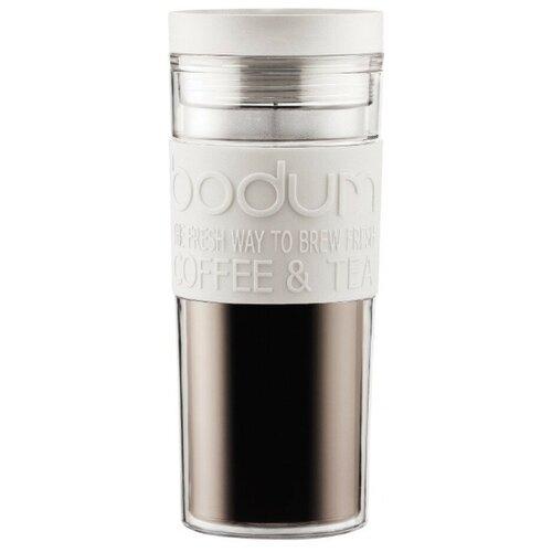 Термокружка Bodum Travel Mug, twist, 0.45 л белый