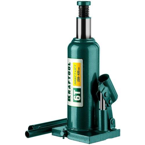 Домкрат бутылочный гидравлический Kraftool Kraft-Lift 43462-6_z01 (6 т) зеленый домкрат гидравлический бутылочный kraftool 10т kraft lift 43462 10 z01