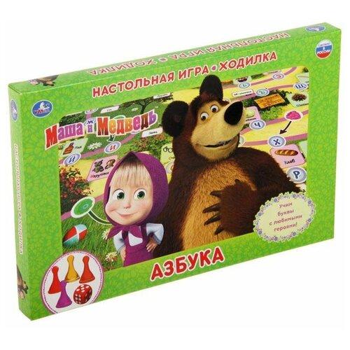 Настольная игра Умка Маша и Медведь. Азбука настольная игра умка маша и медведь викторина 500 вопросов