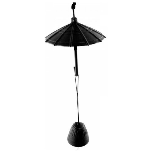 Фурин IWACHU Зонтик и колокольчик (черный)