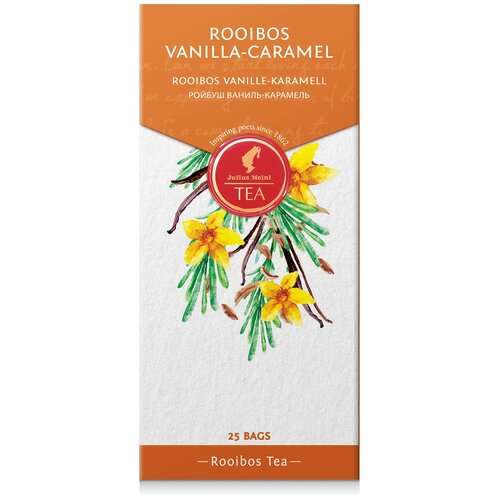 julius meinl семь морей чай улун листовой 50 г Чай травяной Julius Meinl Rooibos vanilla-caramel в пакетиках, 25 шт.