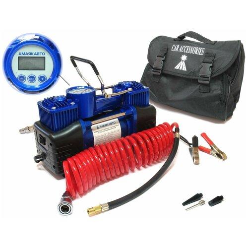 Автомобильный компрессор МАЯКАВТО АС 630МА черный/синий