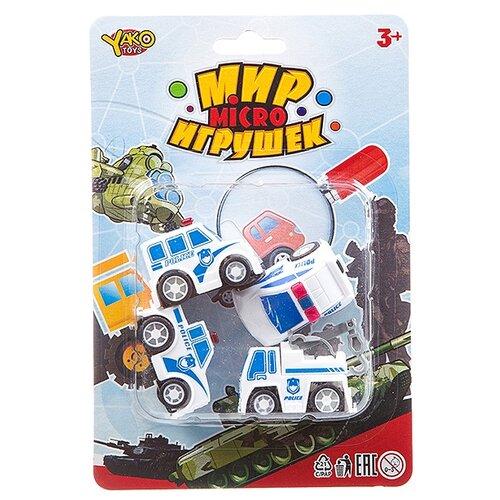 Фото - Набор машин Yako Мир micro Игрушек (B93778) белый набор машин yako мир моих игрушек m7558 1 белый