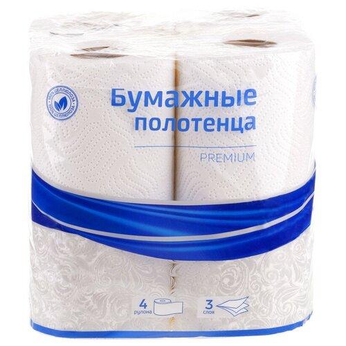 Полотенца бумажные OfficeClean трехслойные Premium 4 рул.