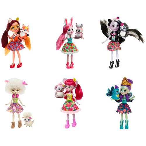 enchantimals кукла felicity fox Кукла Enchantimals с питомцем, 15 см, DVH87