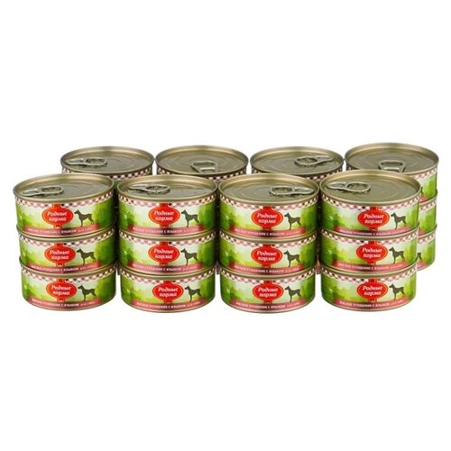 Влажный корм для собак Родные корма беззерновой, говядина 24 шт. х 100 г