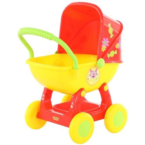 Купить Прогулочная коляска Полесье Три кота №2 71446 красный/желтый, Коляски для кукол