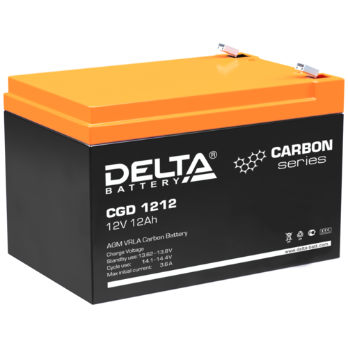 Фото - Аккумуляторная батарея DELTA Battery CGD 1212 12 А·ч аккумуляторная батарея delta battery gel 12 33 33 а·ч
