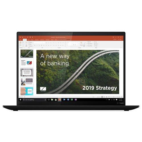 "Ноутбук Lenovo ThinkPad X1 Nano Gen 1 (Intel Core i7 1160G7 2100MHz/13""/2160x1350/16GB/1TB SSD/Intel Iris Xe Graphics/3G/LTE/Windows 10 Pro) 20UN005TRT black"