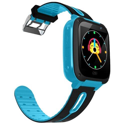 Детские умные часы Smart Baby Watch S4, голубой/черный детские умные часы smart baby watch kt16 голубой