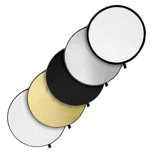 Фото - Светоотражатель 5 в 1 FUJIMI FJ 702-110 Белый/Золото/Серебро/Черный/Рассеиватель светоотражатель godox овальный 5 в 1 100x150 см
