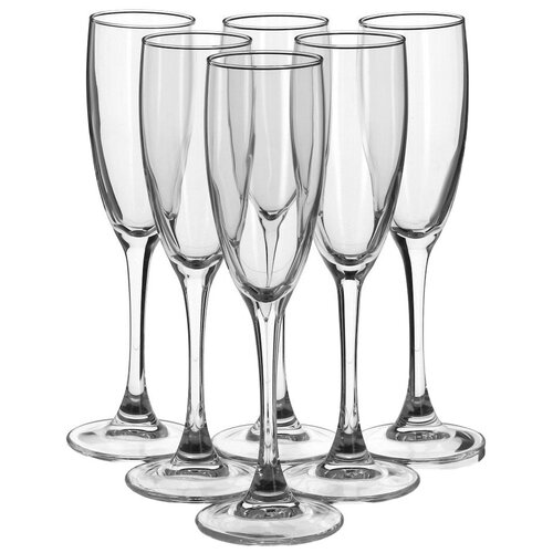 Фото - Luminarc Набор бокалов для шампанского French Braserrie 170 мл 6 шт H9452 luminarc набор фужеров для шампанского signature 3 шт 170 мл j9756