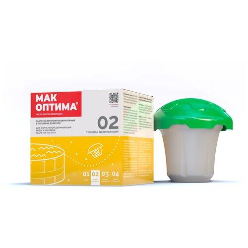 Таблетки для бассейна MAK Комплексное средство в поплавке-дозаторе MAK 4 mini 0.12 кг mak