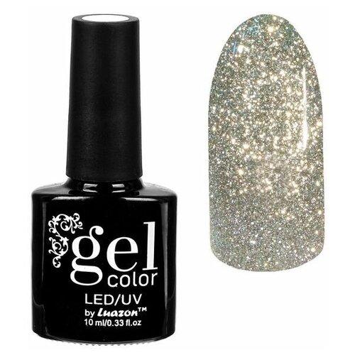 Фото - Гель-лак для ногтей Luazon Gel color Сверкающая платина, 10 мл, 001 золотой гель лак для ногтей luazon gel color termo 10 мл а2 076 пурпурный перламутровый