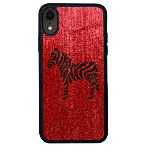 Чехол Timber&Cases для Apple iPhone XR TPU WILD collection - Зебра (Красный Кото - Эвкалипт)