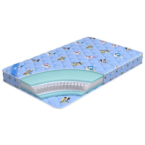 Фото - Матрас детский Промтекс-Ориент Teen Стандарт, 65x125 см, пружинный матрас детский промтекс ориент teen стандарт 70x160 пружинный голубой