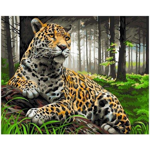 Фабрика творчества Картина по номерам Леопард в лесу 40х50 см (H072) картина по номерам 40х50 см леопард в лесу gx8340