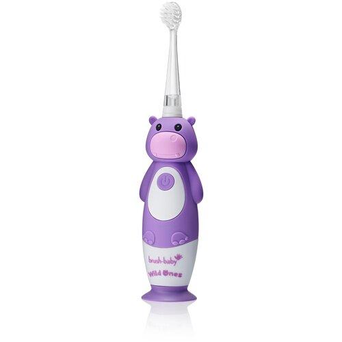Brush-Baby Sonic WildOnes звуковая зубная щетка Бегемот 0-10 лет brush baby kidzsonic звуковая зубная щетка ракета от 3 лет