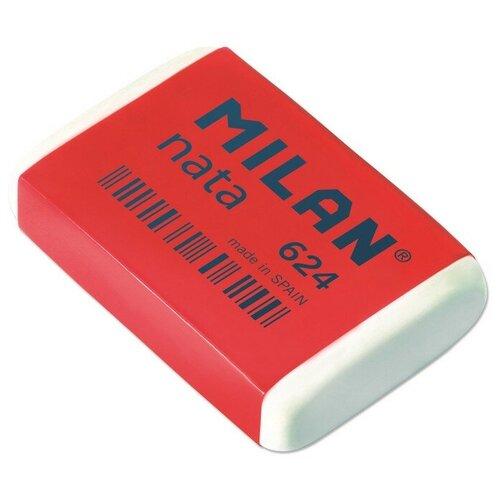 Купить Ластик пластиковый Milan nata 624 белый, карт. держатель 4 штук, Ластики