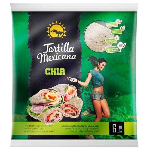 PIP Лепешка тортилья Mexicana пшеничная с семенами чиа цельнозерновая, 6 шт./уп., 390 г