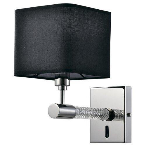 Бра Люмьен Холл Bolyasko LH1056/1W-NK-BK, E14, 40 Вт, кол-во ламп: 1 шт., цвет арматуры: никель, цвет плафона: черный