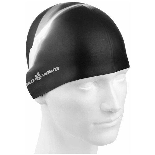 Шапочка для плавания MAD WAVE Multi BIG, черный очки для плавания mad wave spurt rainbow azure white